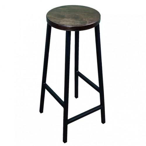 Барный стул Хокер с круглым сиденьем