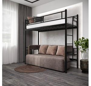 Двухъярусная металлическая кровать Cherdak