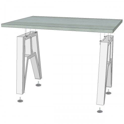 Основание для стола Прайм из металлической трубы