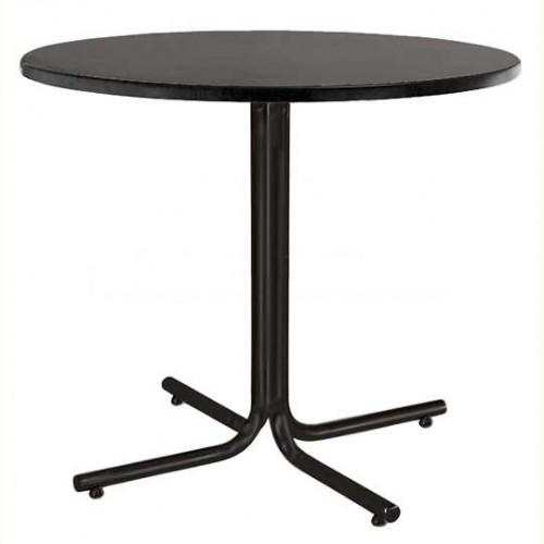 Стол KARINA black - круглая столешница